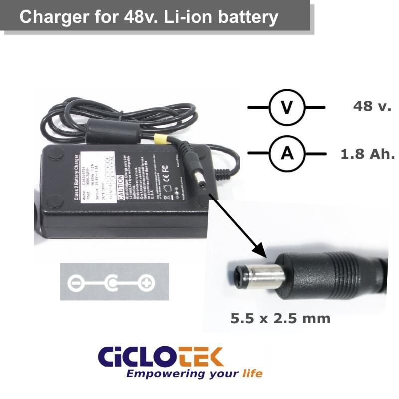 Cargador para batería de litio de 48 . Tipo FT - Ciclotek