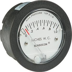 Miniature Low-Cost Differential Pressure Gauge - Sensocon Series Sz-5000 - Easy Zero
