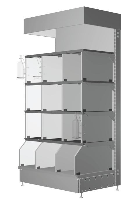 Modular shop rack systems & instore interior shelving design - Shelf accessories