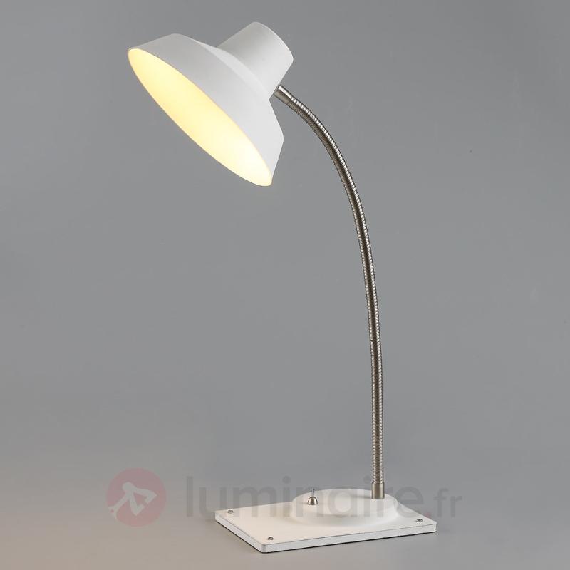 Lampe de bureau blanche LED Cayetana - Lampes de bureau LED