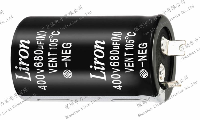 Liron lkg high operating temperature snap in aluminum electrolytic capacitor - SNAP IN CAPACITOR