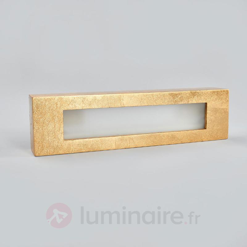Applique rectangulaire en plâtre Emina doré - Appliques en laiton/dorées