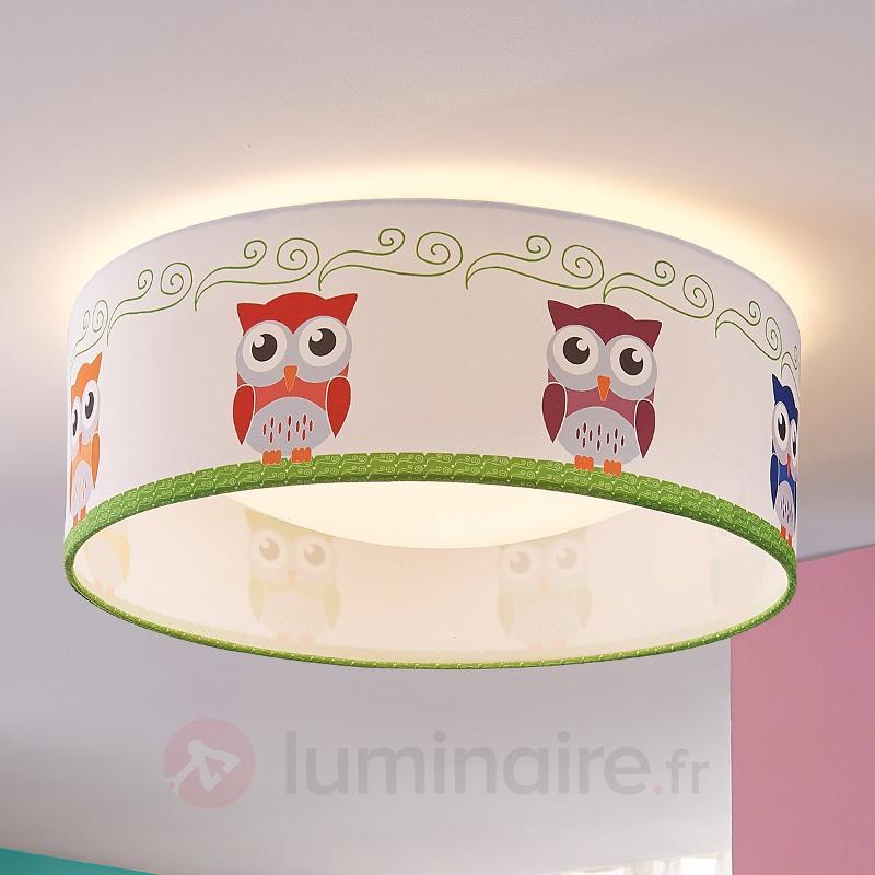 Plafonnier en textile Eula à LED claires - Chambre d'enfant