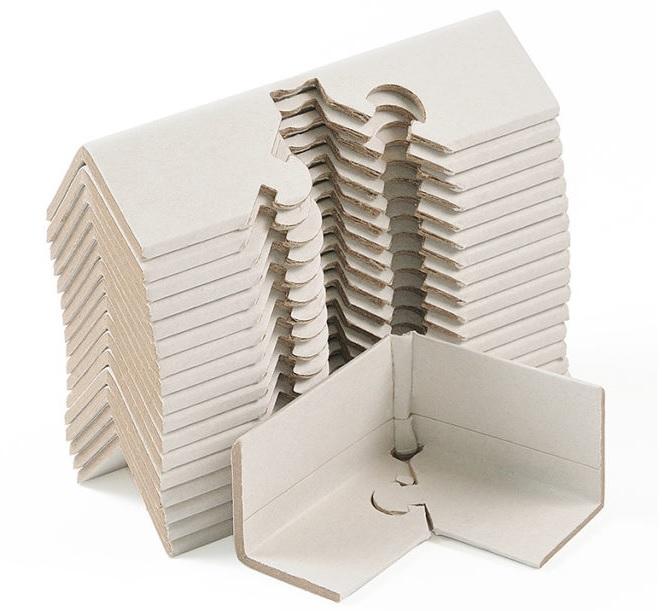 уголок картонный, уголковый картонный профиль - картонный уголок, картонная защита для кромок