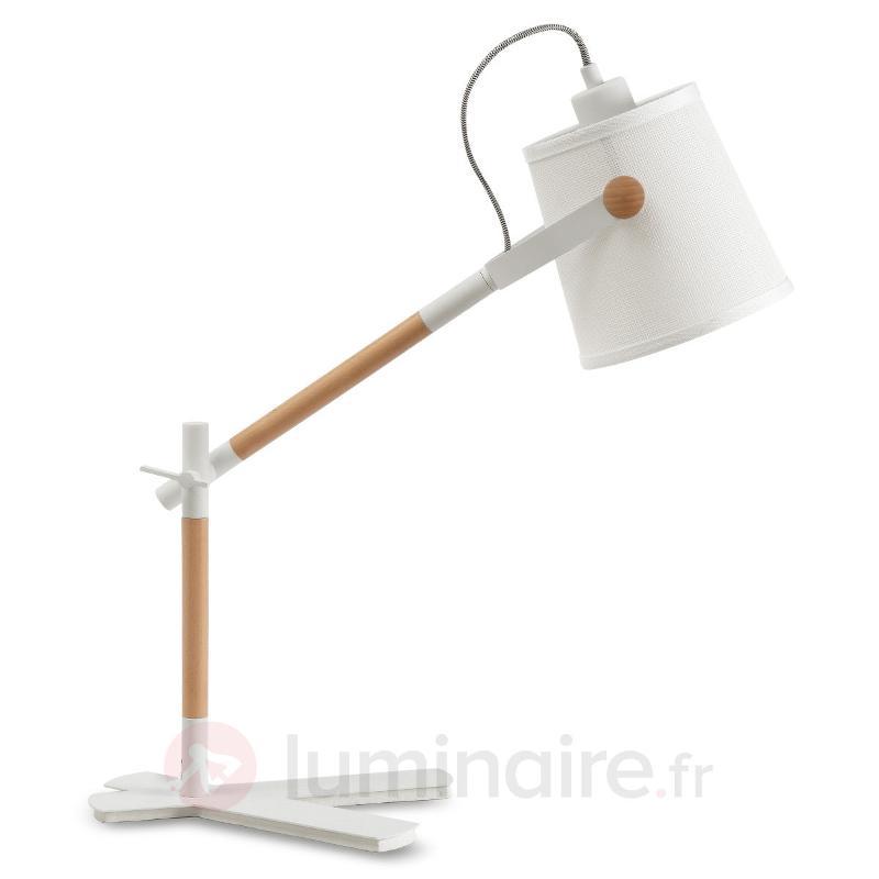 Lampe à poser en bois et tissu Nordica - Lampes à poser en tissu