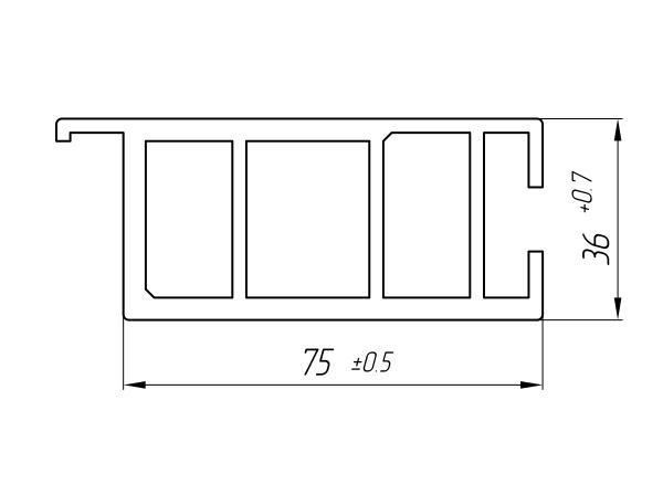 Aluminum Profile For Car And Rail Car Building Ат-964 - Aluminum profile for mechanical engineering