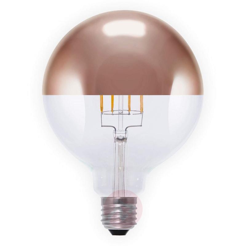 E27 8W 926 LED half mirror bulb G125 copper - light-bulbs
