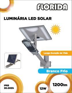 Luminária LED Solar 12W 4.8Ah