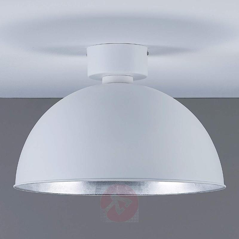 Lya - LED ceiling lamp in white and silver - Ceiling Lights