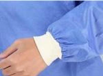Bata quirúrgica SMS desechable - Color: azul, blanco, verde, amarillo Material: telas no tejidas SMS o SMMS