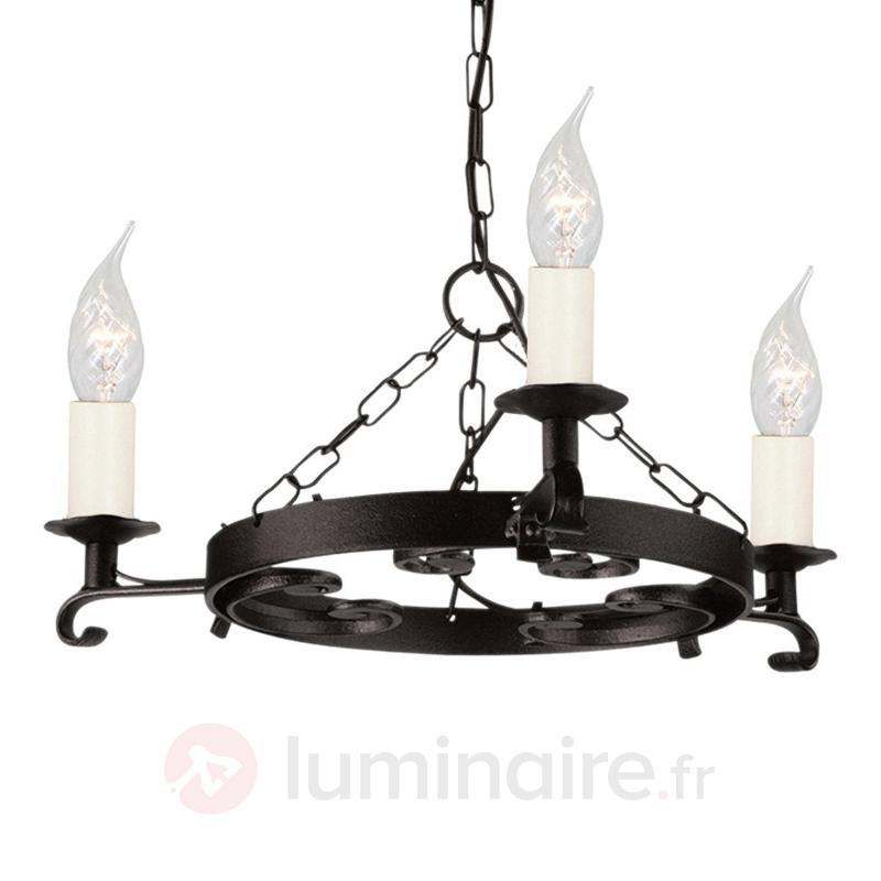 Suspension RECTORY fer forgé - Lustres classiques,antiques