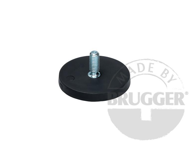 Magnet assembly, NdFeB, rubber coat black - null