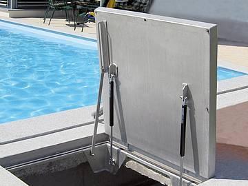 BV-GD steel galvanised Hinged sealed covers, with... - Hinged sealed covers, with gas-strut lift