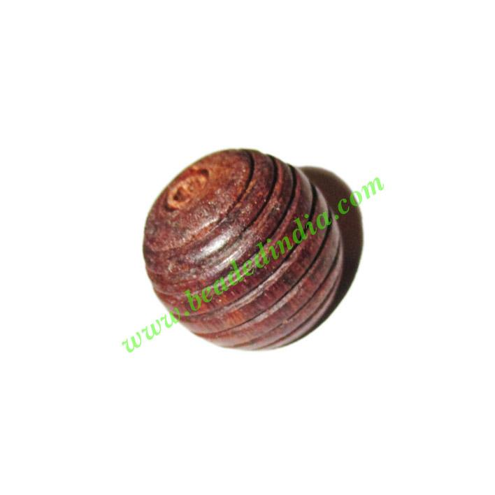 Rosewood Beads, Handcrafted designs, size 15x16mm, weight ap - Rosewood Beads, Handcrafted designs, size 15x16mm, weight approx 2.47 grams
