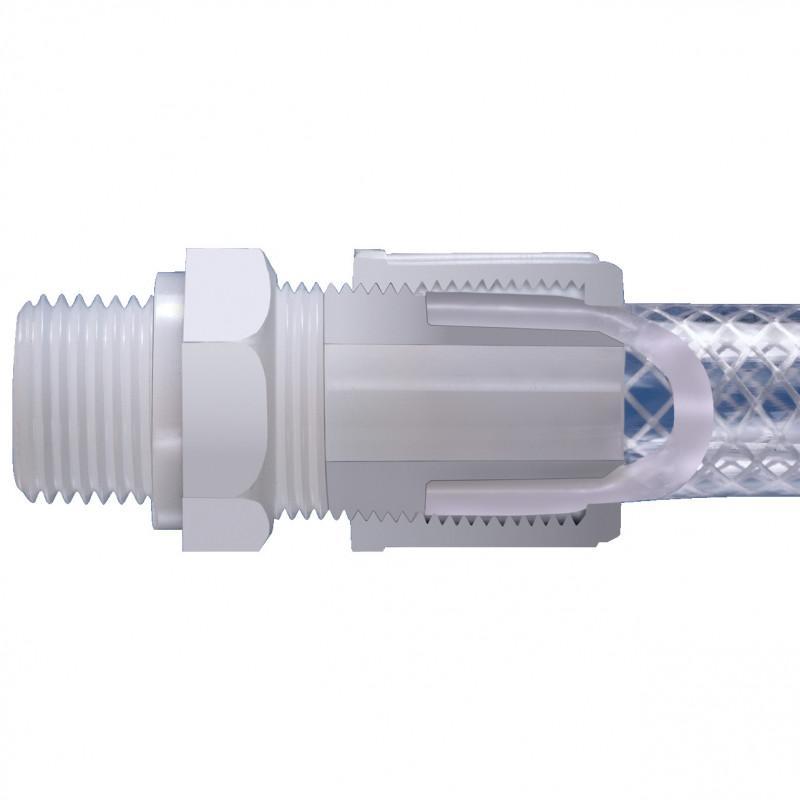Principio di connessione 1B - Raccordo per tubo flessibile per tubi con rinforzo in tessuto