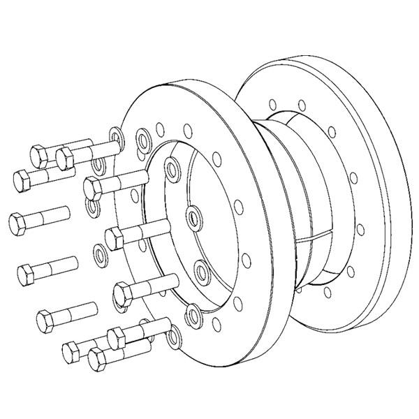 TAS-3093 Heavy-Range Strengthened - Shrink Discs 3-part