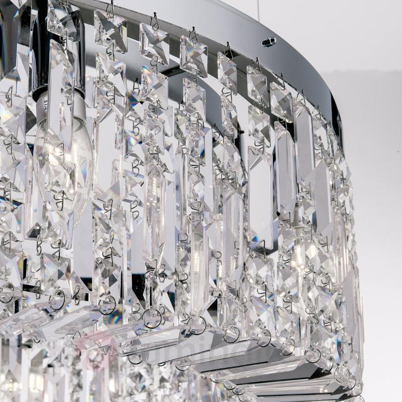 Grosse suspension cristal Ring 110 cm chromée - Suspensions en cristal
