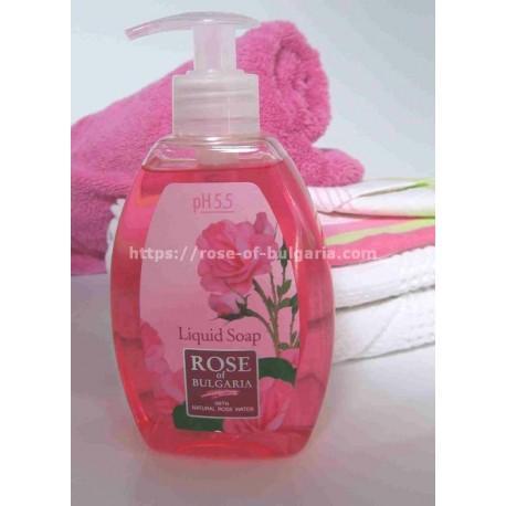 Savon liquide à l'eau de rose - Soin corps pour Femme