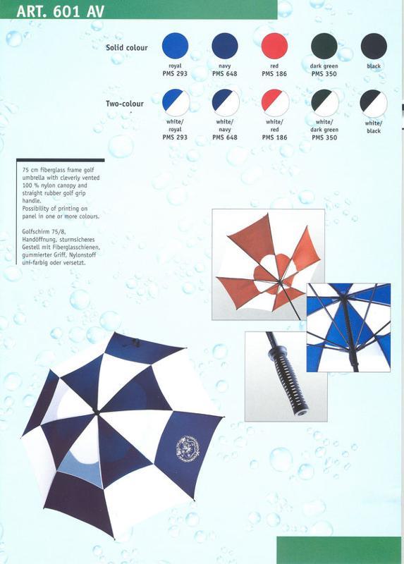 Parapluies golf - 601 AV GOLF AVEC OUVERTURE POUR LE VENT