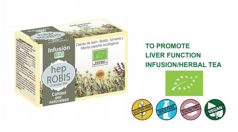 Hep Robis Bio - To promote liver function, infusion/herbal tea