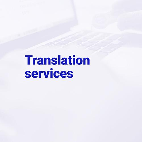 Translation services - We work with more than 200 language pairs.