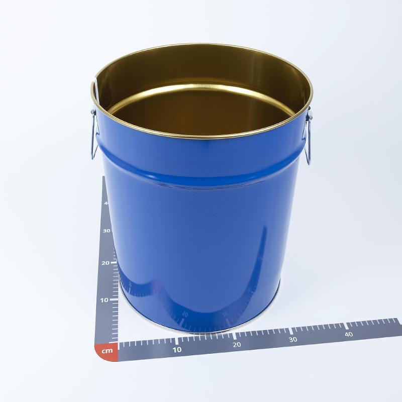 Hobbock 30 Liter, UN, innen gold lackiert, außen blau - Artikelnummer 450000658701
