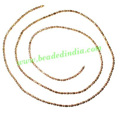 Gold Plated Metal Chain, size: 1.5mm, approx 102.3 meters in - Gold Plated Metal Chain, size: 1.5mm, approx 102.3 meters in a Kg.