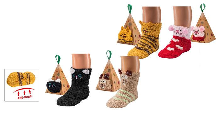 5236 - 3D Cozy Socks with Anti-Slip  - Super-soft and cuddly in pretty gift box. With anti-slip print.
