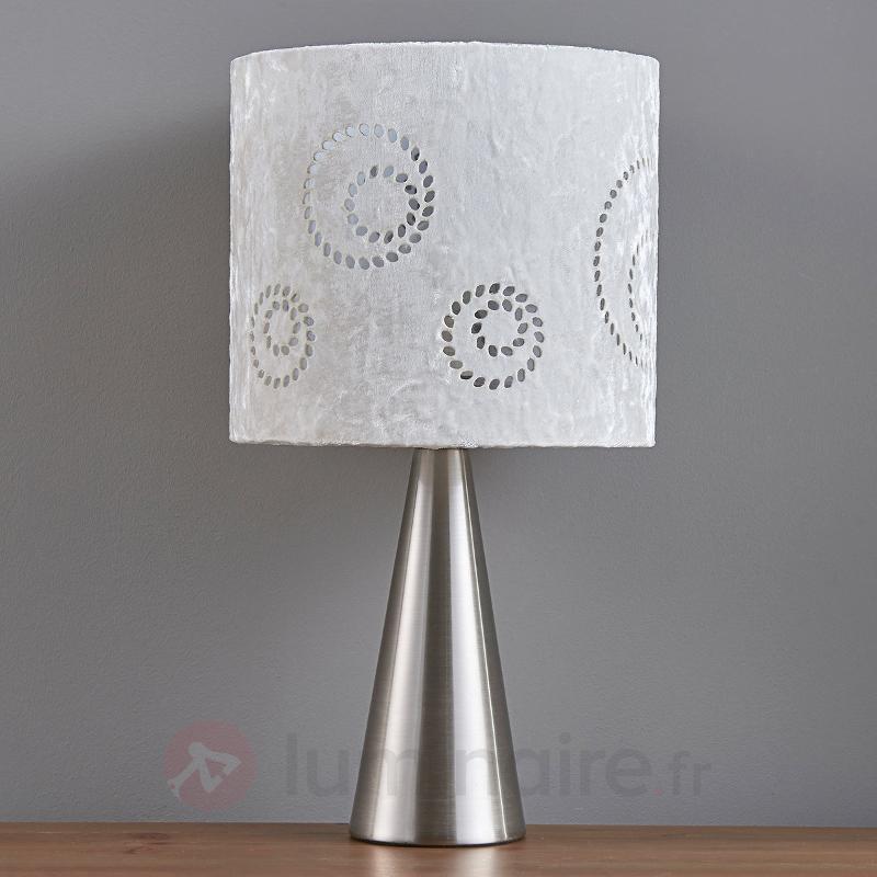 Lampe de chevet Lenna avec abat-jour en velours - Lampes à poser en tissu