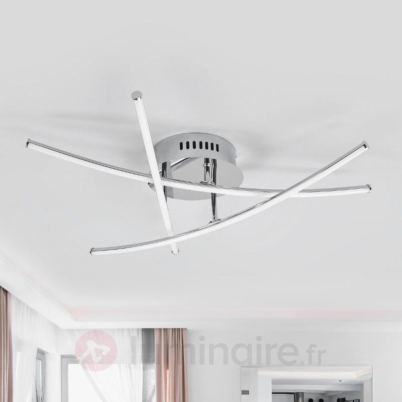 Beau plafonnier LED à barres croisées Yael - Plafonniers LED