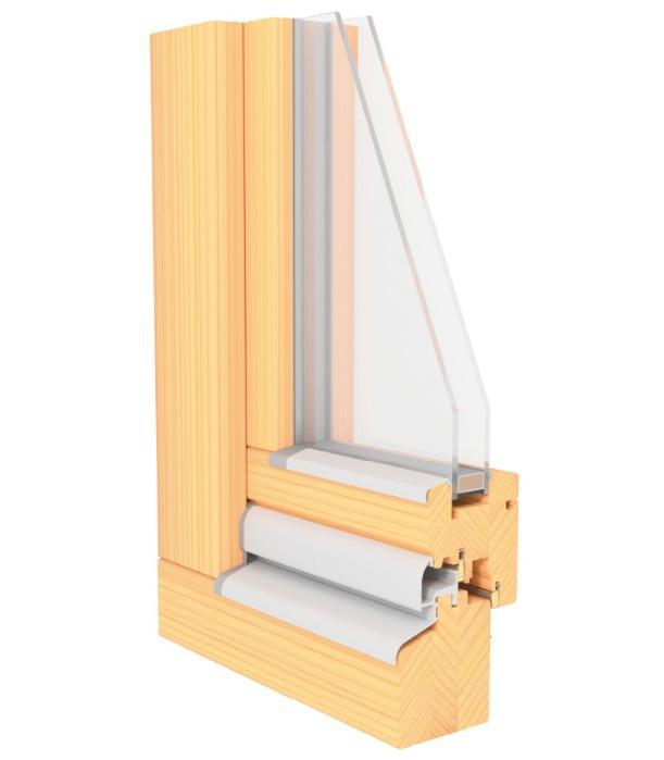 LUCA MODERN - 68 mm Profile - wooden window