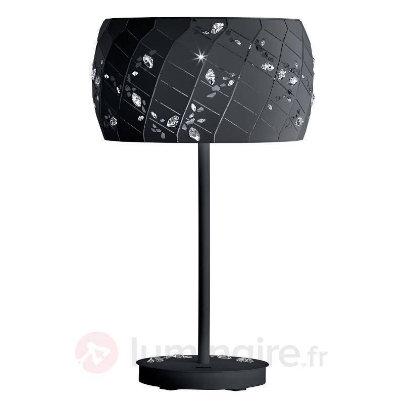 Lampe à poser noire Apta avec cristaux, 37 cm - Lampes à poser designs