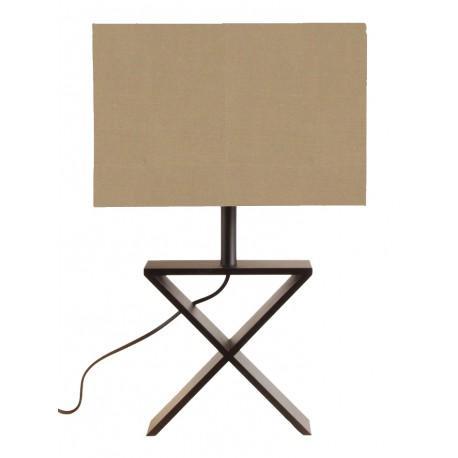 LAMPE DE TABLE X WENGE - LAMPES A POSER