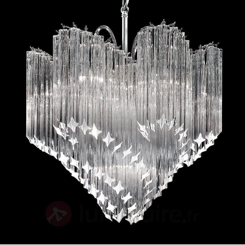 Luminaire magnifique Chiocciola cristal - Suspensions en cristal