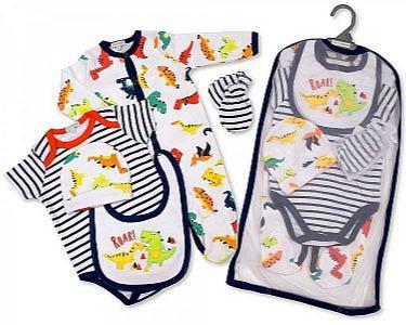 Baby Boys 5 Pieces Layette Gift Set - Roar -