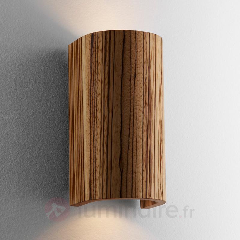 Belle applique Tube Zebrano 17,5 cm - Appliques en bois