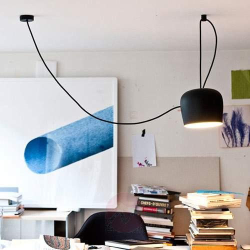 FLOS Design AIM LED Pendant Lamp, Black - Pendant Lighting