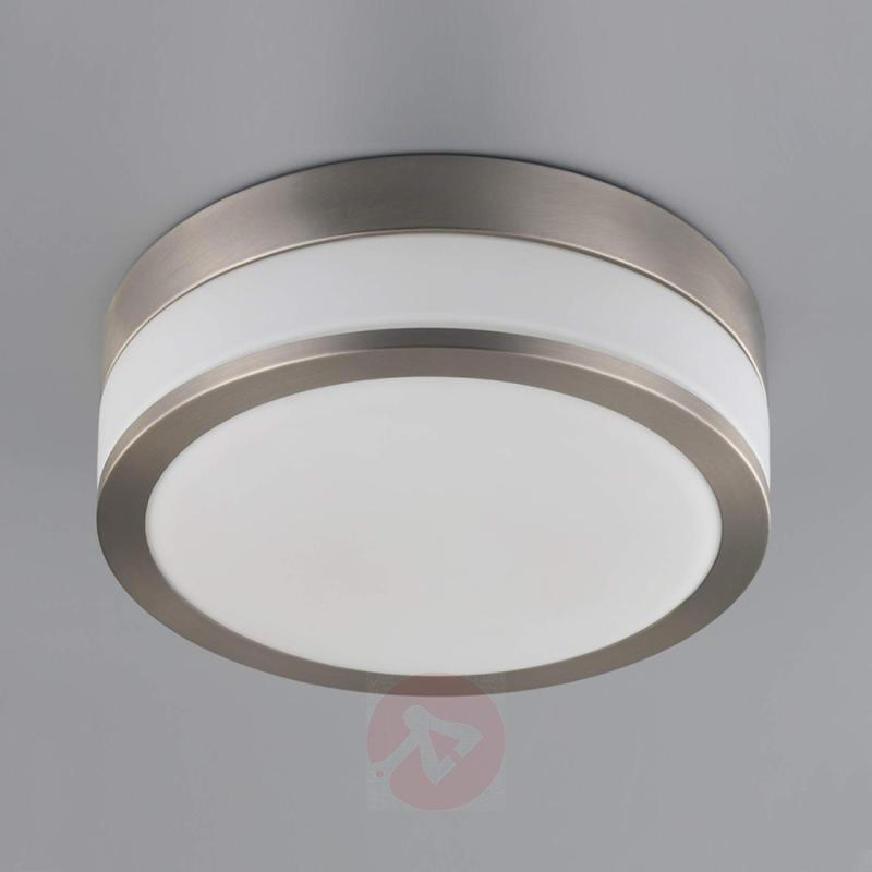 Bathroom ceiling light Flavi, matt nickel - indoor-lighting