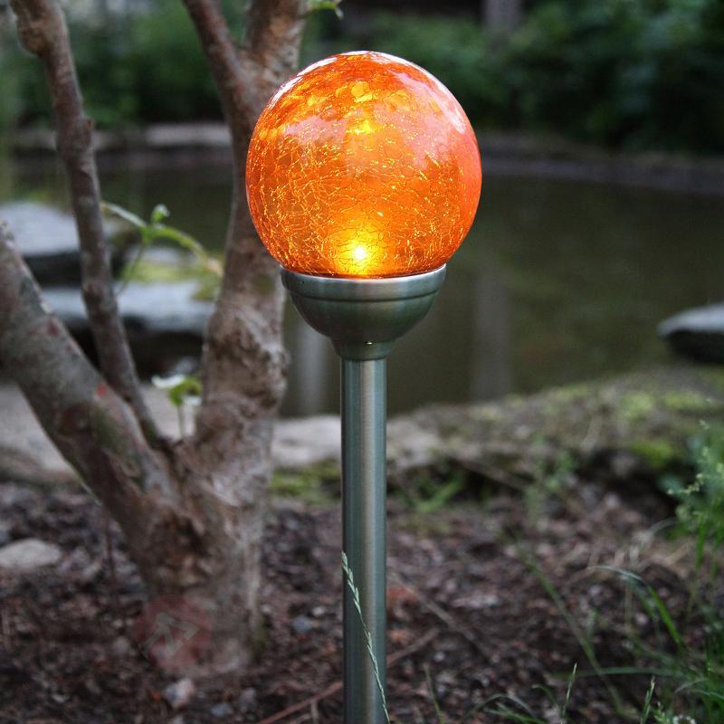 Lampe solaire à piquet Roma avec LED ambre - Lampes décoratives d'extérieur
