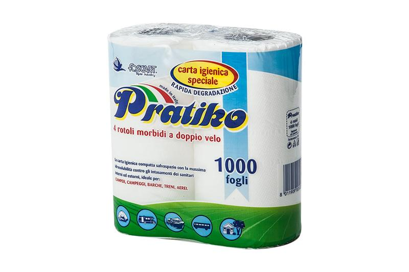PRATIKO – carta igienica outdoor 4 rotoli - Carta Igienica Outdoor