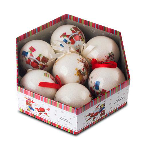 Christmas decoupage ornament ball - Blown Plastic Ball/Decoupage Ornament