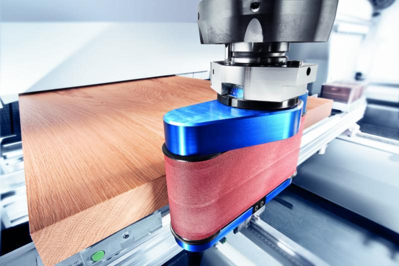 Belt sanding unit COLLEVO - CNC unit for machining of wood, composites and aluminium