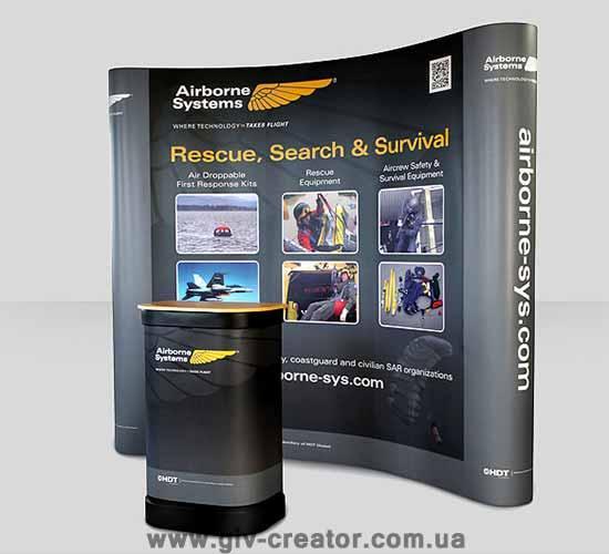 Стенд ПОП АП - мобильный выставочный стенд поп-ап, стенд для выставки, рекламный стенд