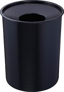 Z16501 - Sicherheitspapierkorb 6L mit Löschkopf - schwarz