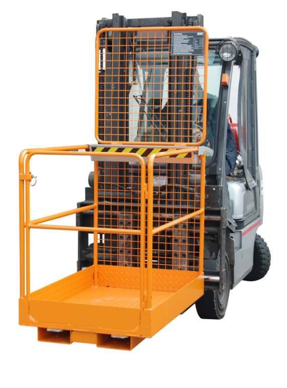 Nacelle de sécurité, appareils pour chariot élévateur - Sécurité lors de travaux de réparation et d'entretien