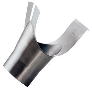 bocchettone inclinato - conf. DIN EN 12056-3 - zinco - bocchettone inclinato