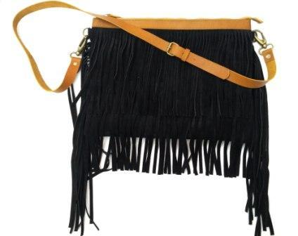 Leather bag - Leather Fringe bag