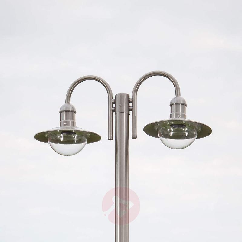 Damion Stainless Steel Mast Lamp with 2 Lamp Heads - Pole Lights