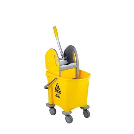 Chariot De Nettoyage À 1 Seau 25 Litres Avec Presse - Chariots Ménagers