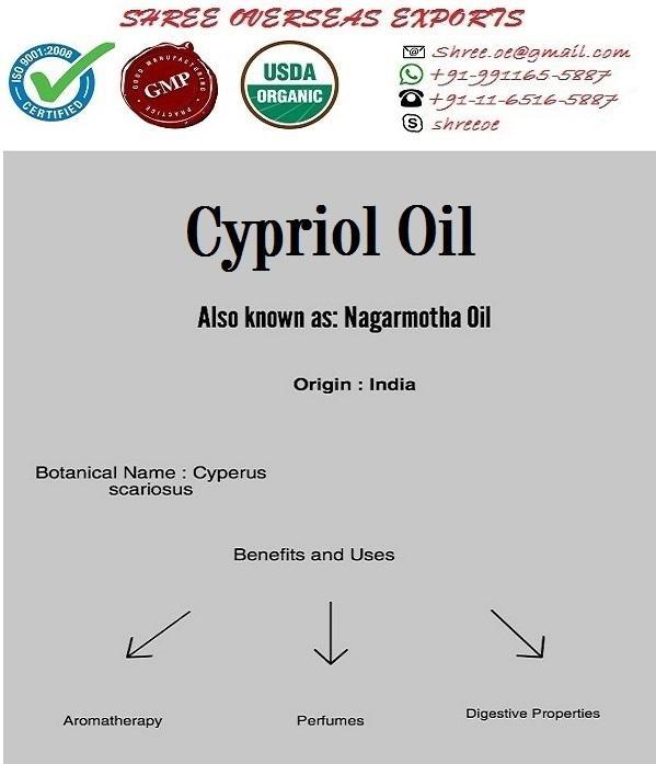 Organic Cypriol Oil - USDA Organic